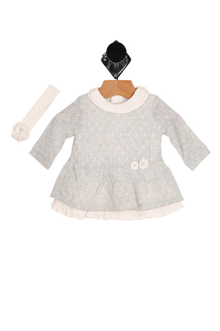 Knitted L/S Sleeve Dress W/ Headband (Infant)