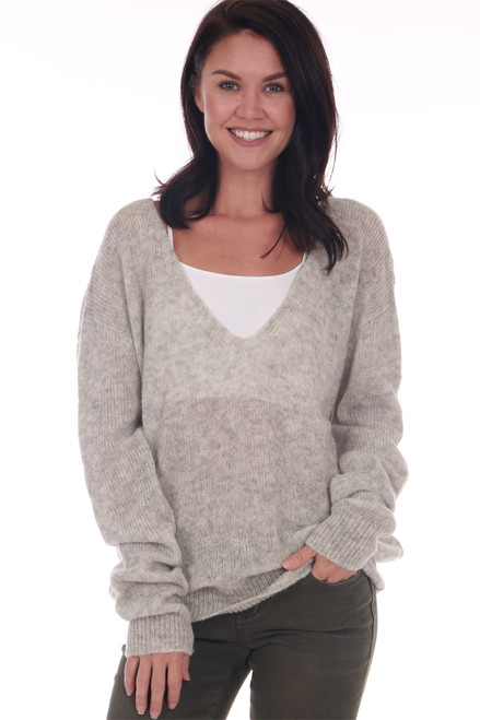 Gossamer L/S V-Neck Sweater