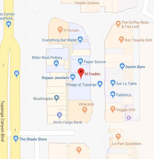 M.Fredric Woodland Hills, CA Location Map