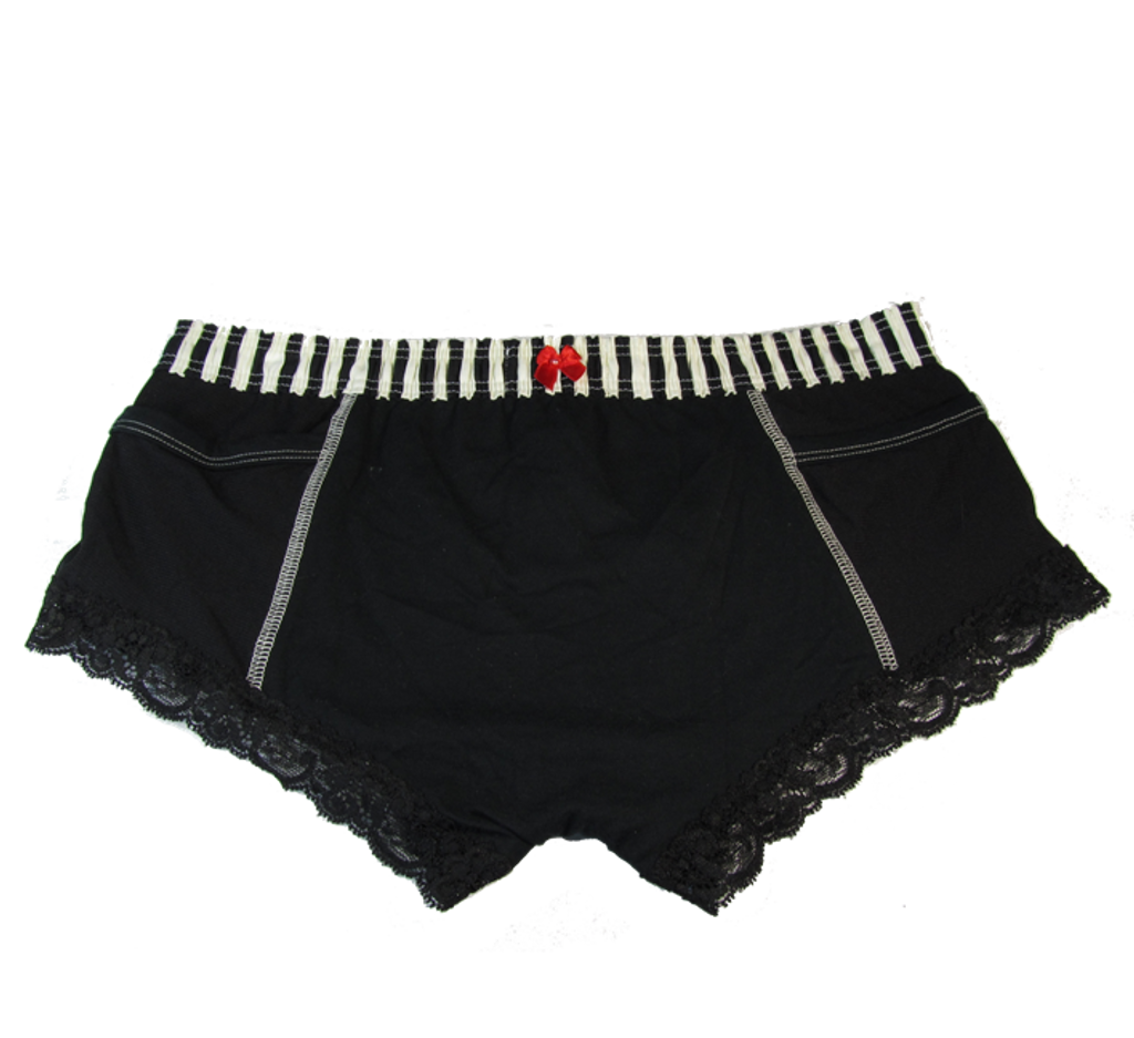 Ivory Black Stripe over Black Boxer Brief FXBOY-0178