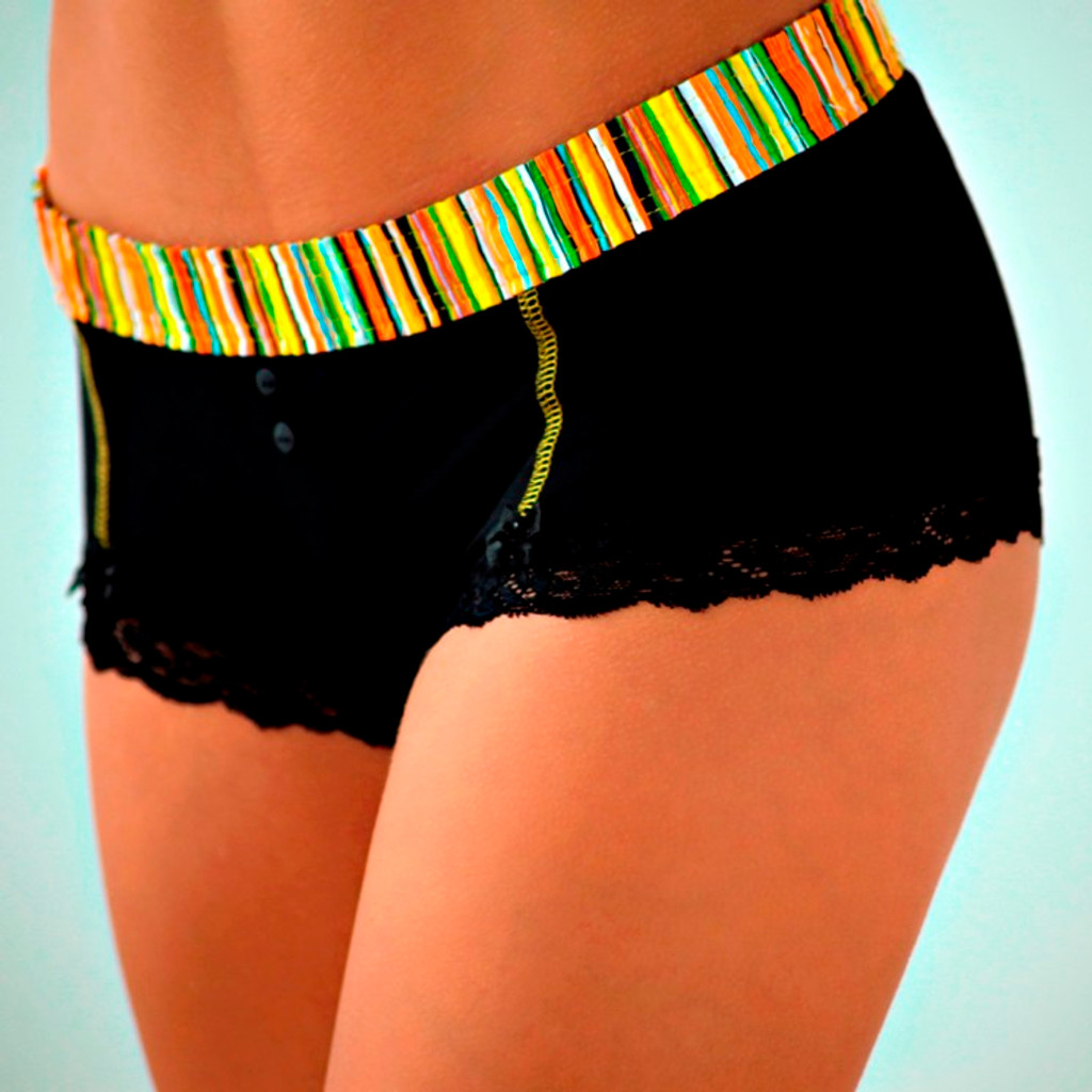 Sunburst / Black Boyshort