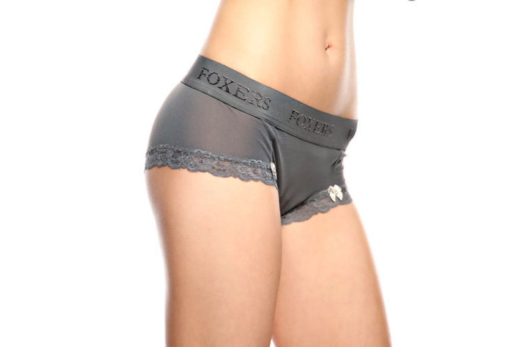 Grey Sheer Boyshort