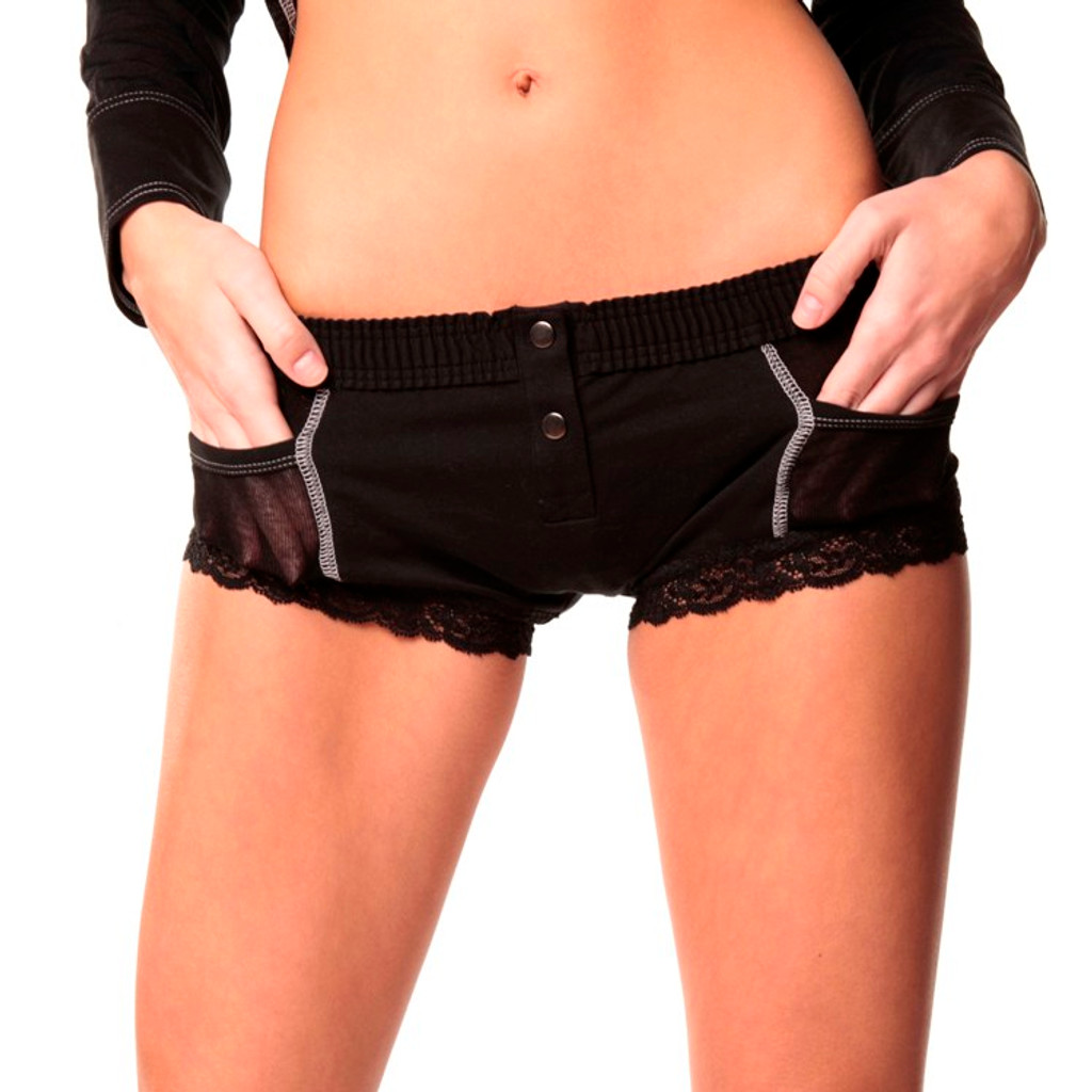 Black Boxer Brief (Grey Accents) FXBB-0171