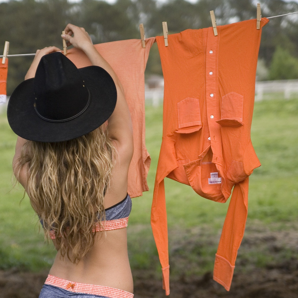 Sport Orange Sheer Western Shirt