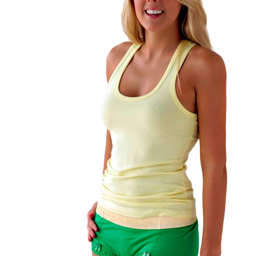 Yellow  Racer Back Tank