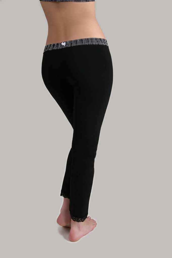 Leggings - Black Stripe over Black