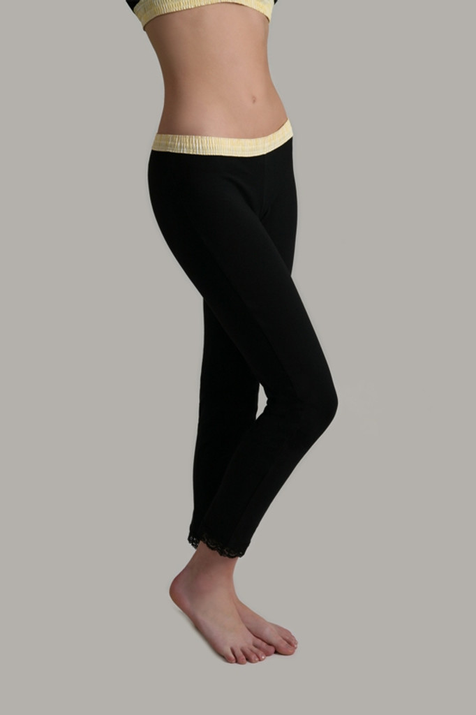 Leggings - Yellow over Black