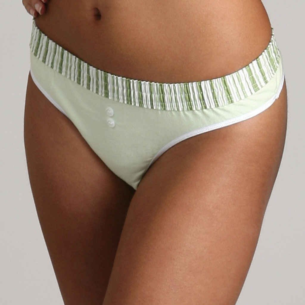 Lime Stripe over Lime Bstring Thong