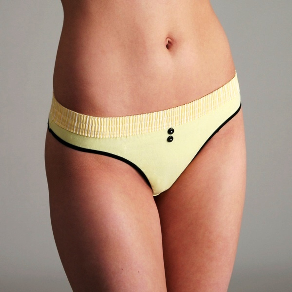 Yellow over Yellow Bstring Thong