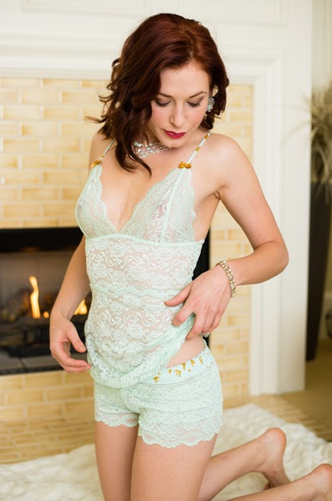 Mint Green Lace Camisole