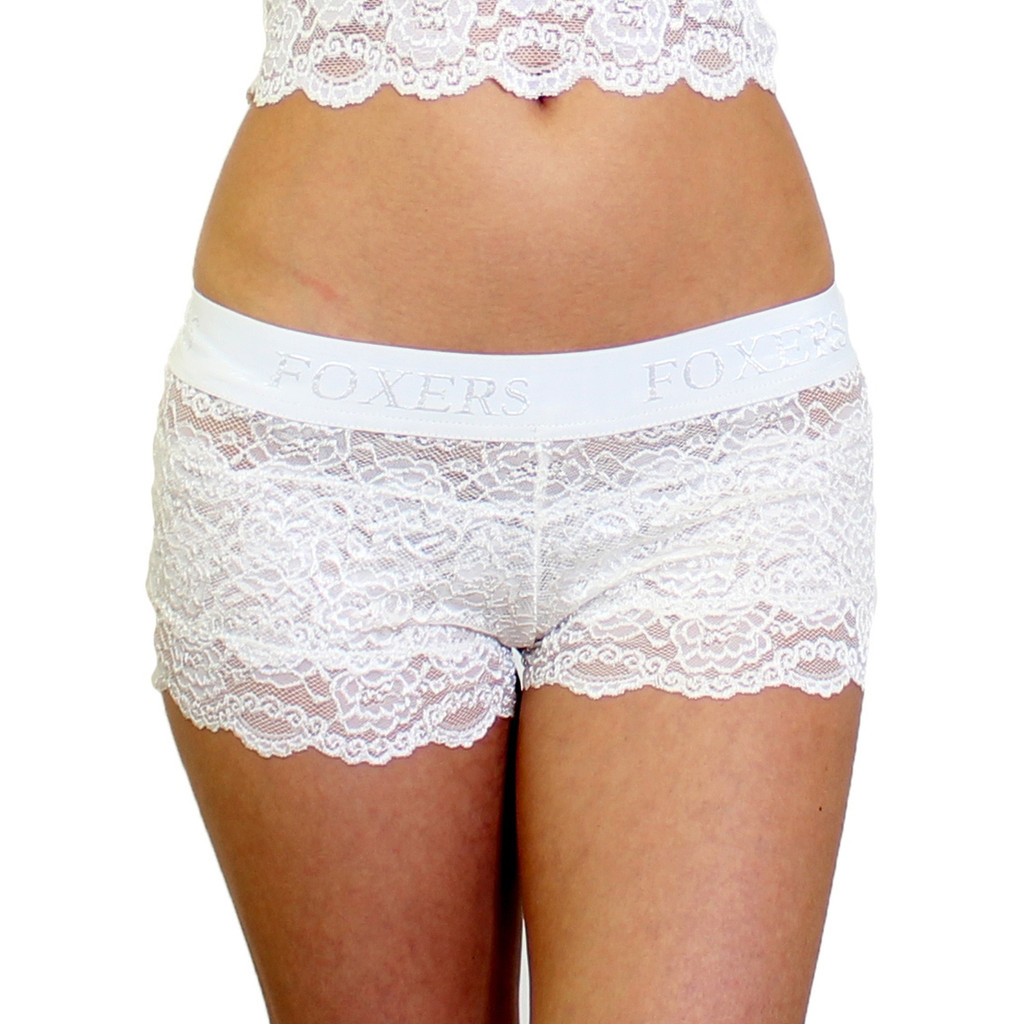 Ivory Lace Bridal Panties | Lace Boyshorts