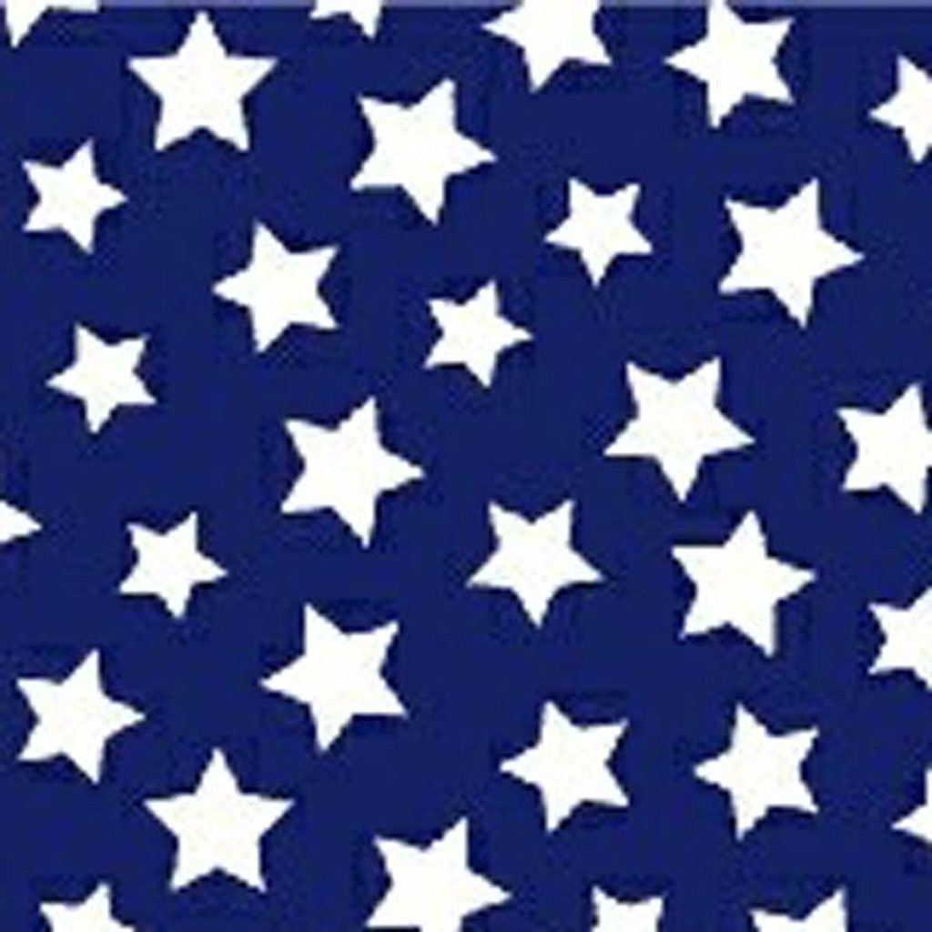 Navy & White Star Bright Waistband Fabric Swatch