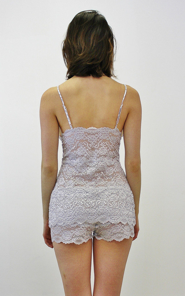 Silver Lace Camisole Chemise