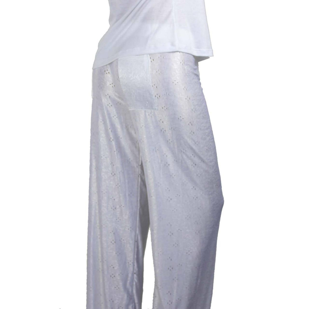 Silky White Pajama Pants