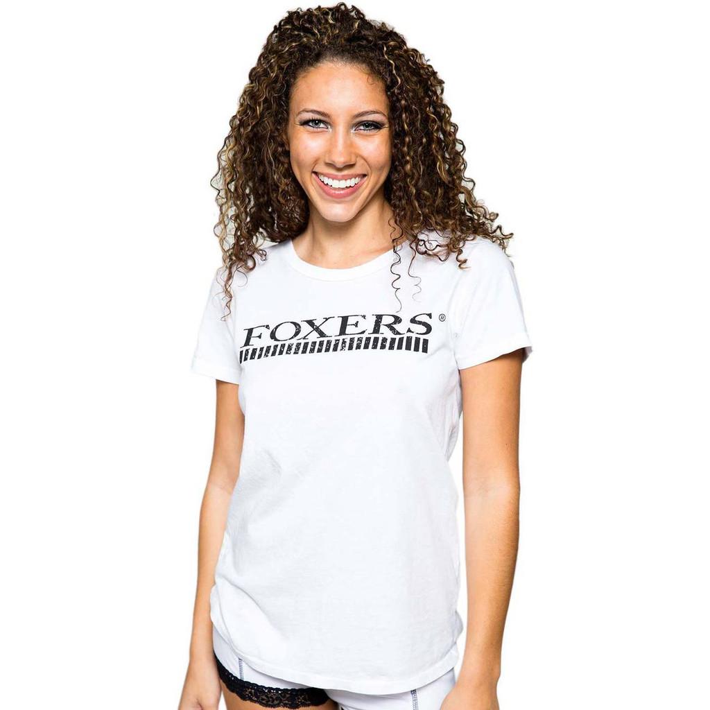 Foxers Logo White Tee