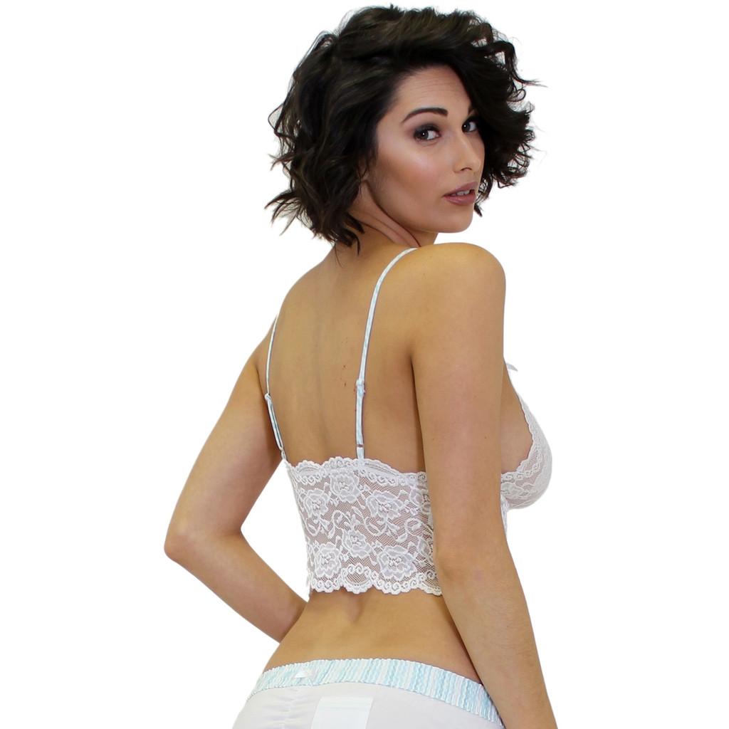 White Lace Bralette Cami Top