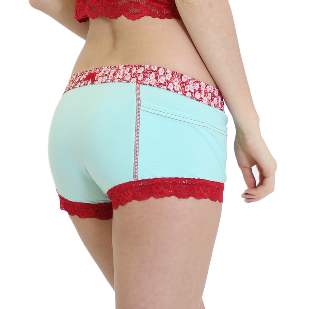 Girl's Aqua Blue Boxer Brief