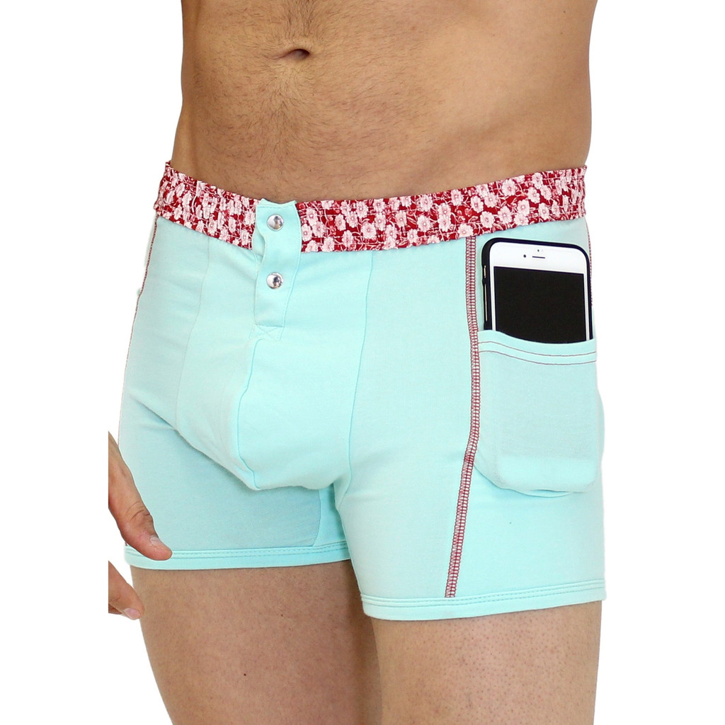Light Blue Boxers with Pockets