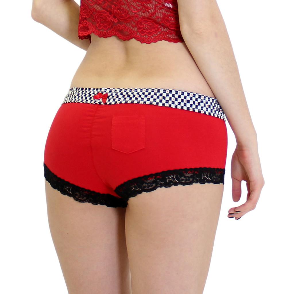 Women's Red Boxer Briefs