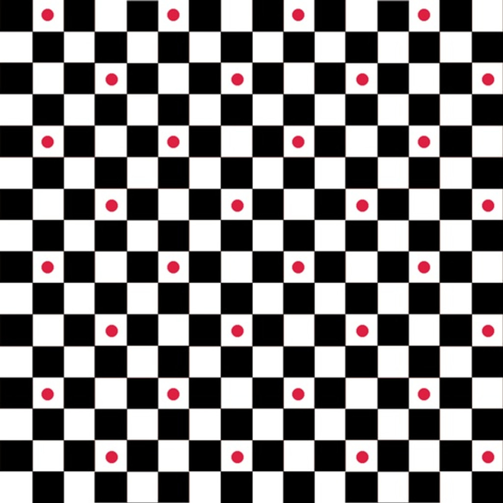 Checker with Red Dot | Waistband Print