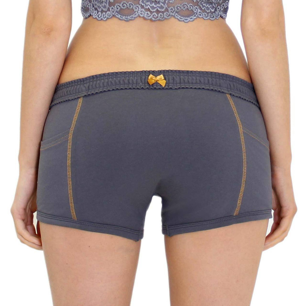 Gray Androgynous Underwear