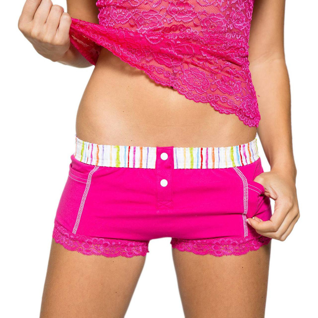 Fuchsia Women's Boxer Brief with Pockets | Watercolors