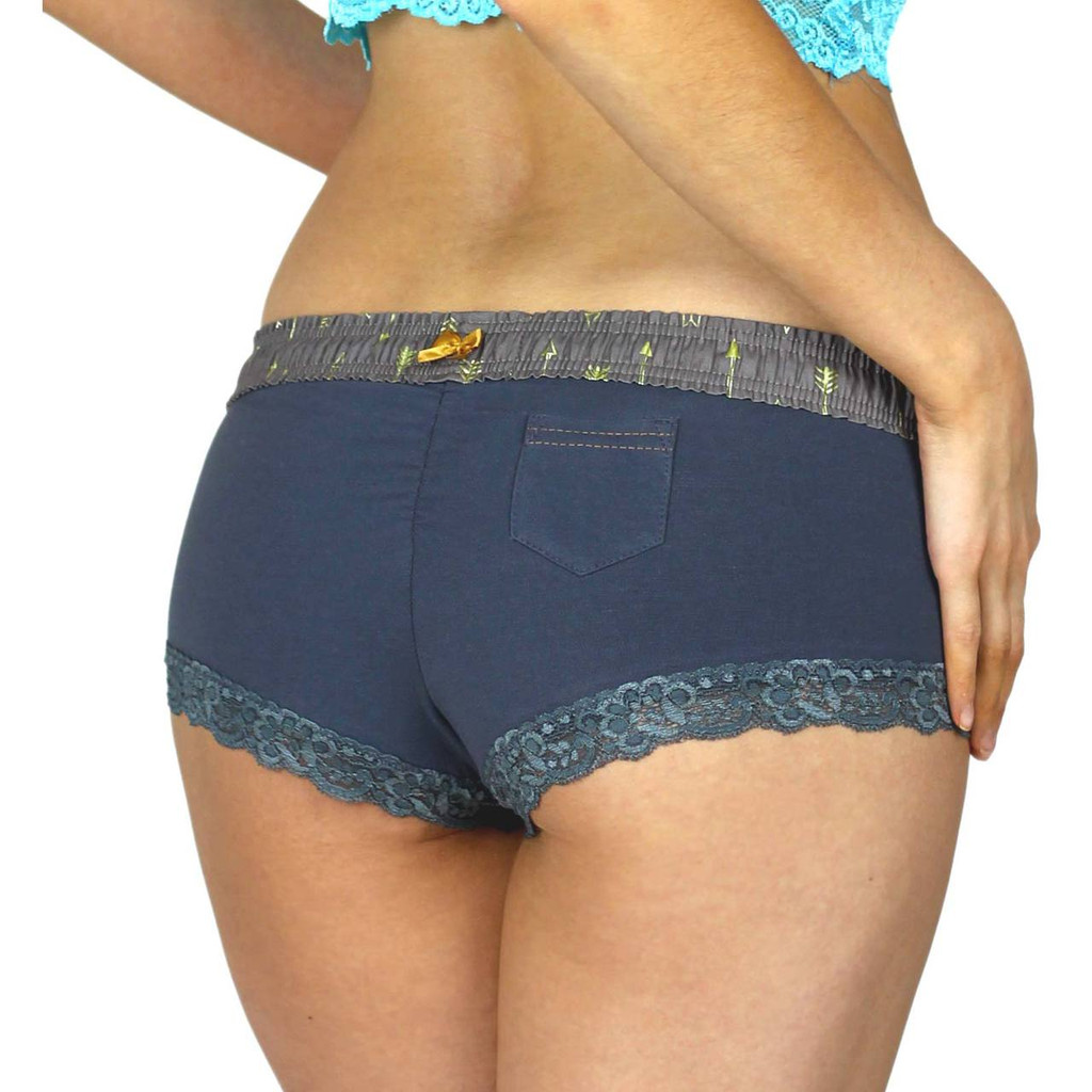 Women's Grey Boyshorts Underwear