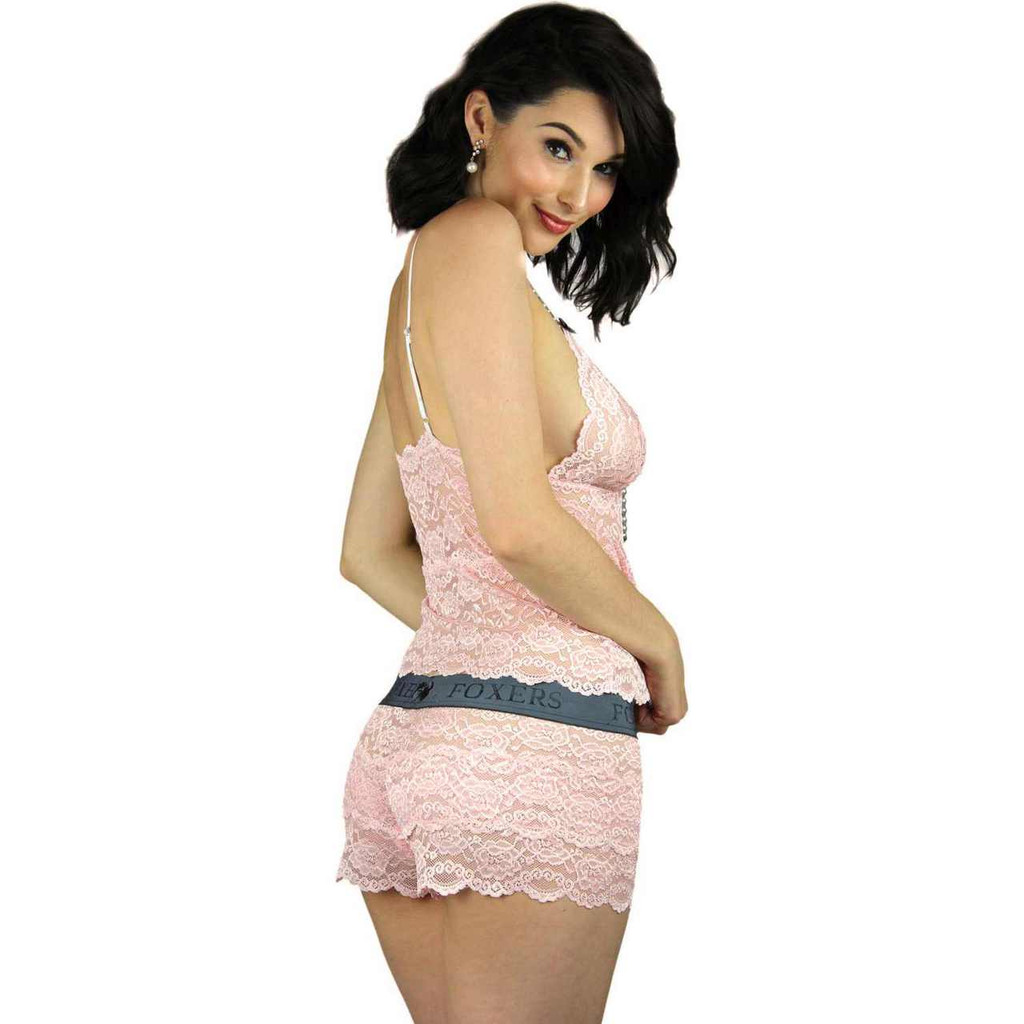 Pink Lace Top and matching lace boxers