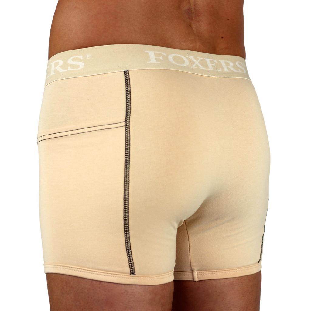 Men's Nude Boxer Brief | FOXERS Logo