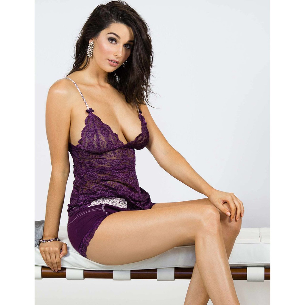 Stephy May in the Plum Perfect Boxer Briefs and Matching Waist length Lace