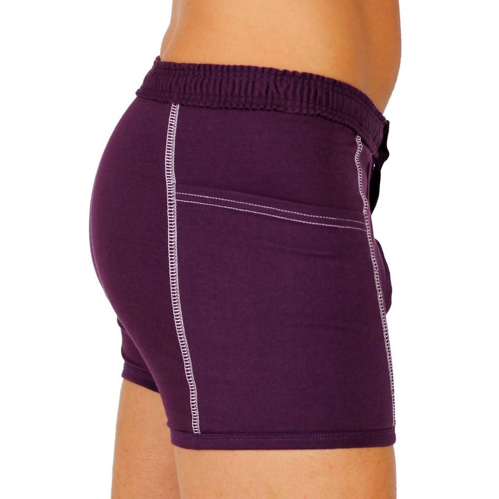 Purple Men's Boxer Briefs with Pockets
