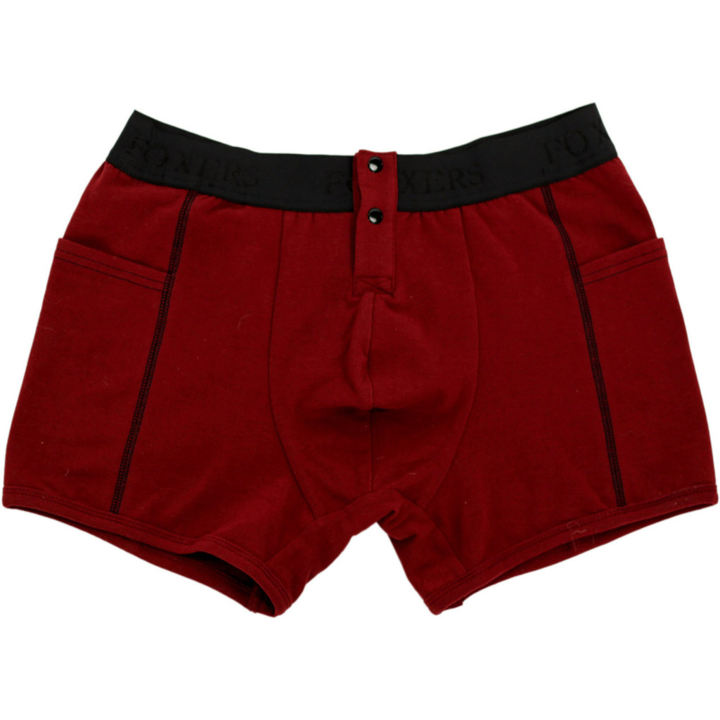 Men's CRANBERRY Boxer Briefs with Foxers Logo Band