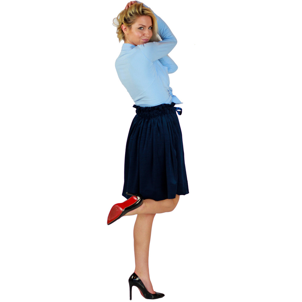 Navy Velour Skirt