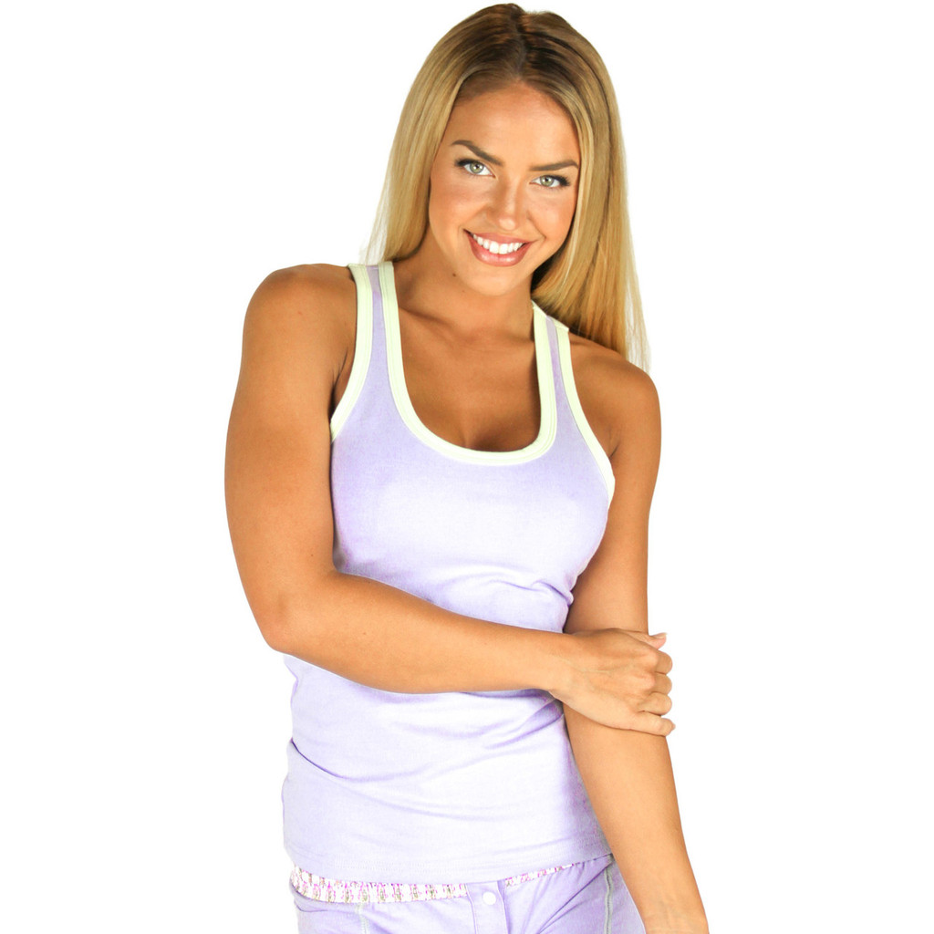 Lavender Tank Top with Mint Green Trim