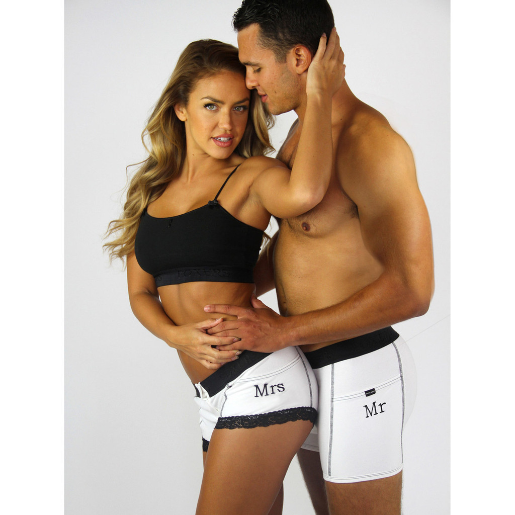 "Groom Tuxedo FOXERS Boxer Briefs | ""Mr"" Monogram"