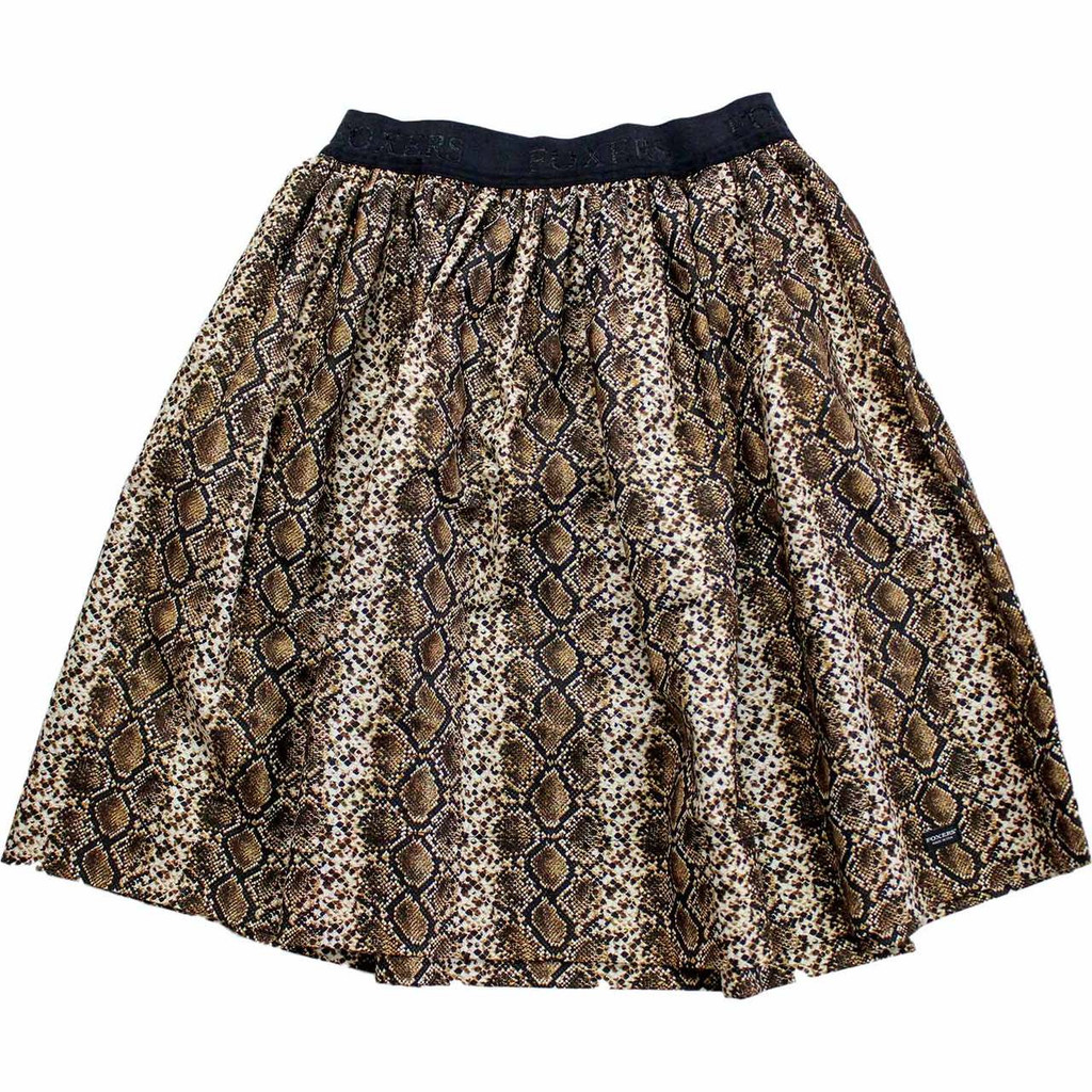 Sexy Snake Skin Print Skirt with Hidden Pockets on both sides!