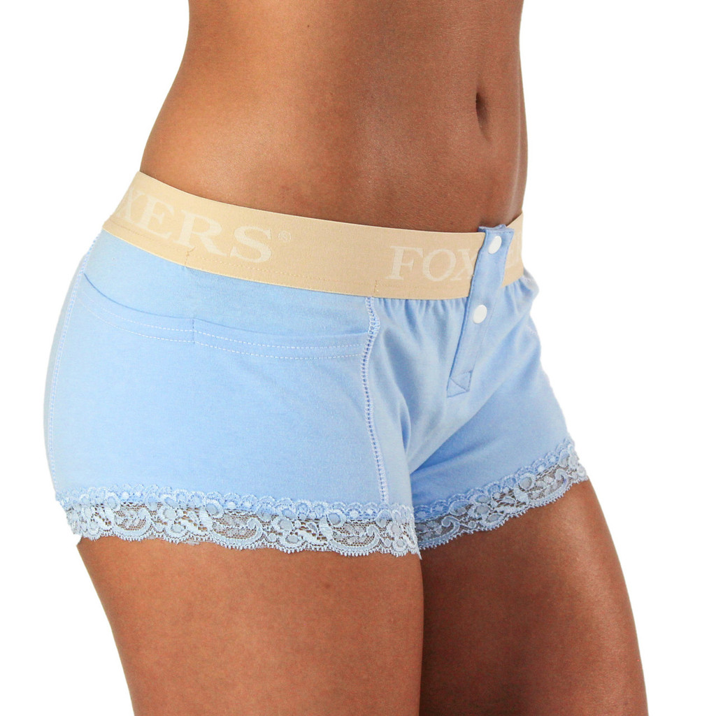 Light Blue Boxer Brief with Nude FOXERS Logo Band (FXBB-0463L