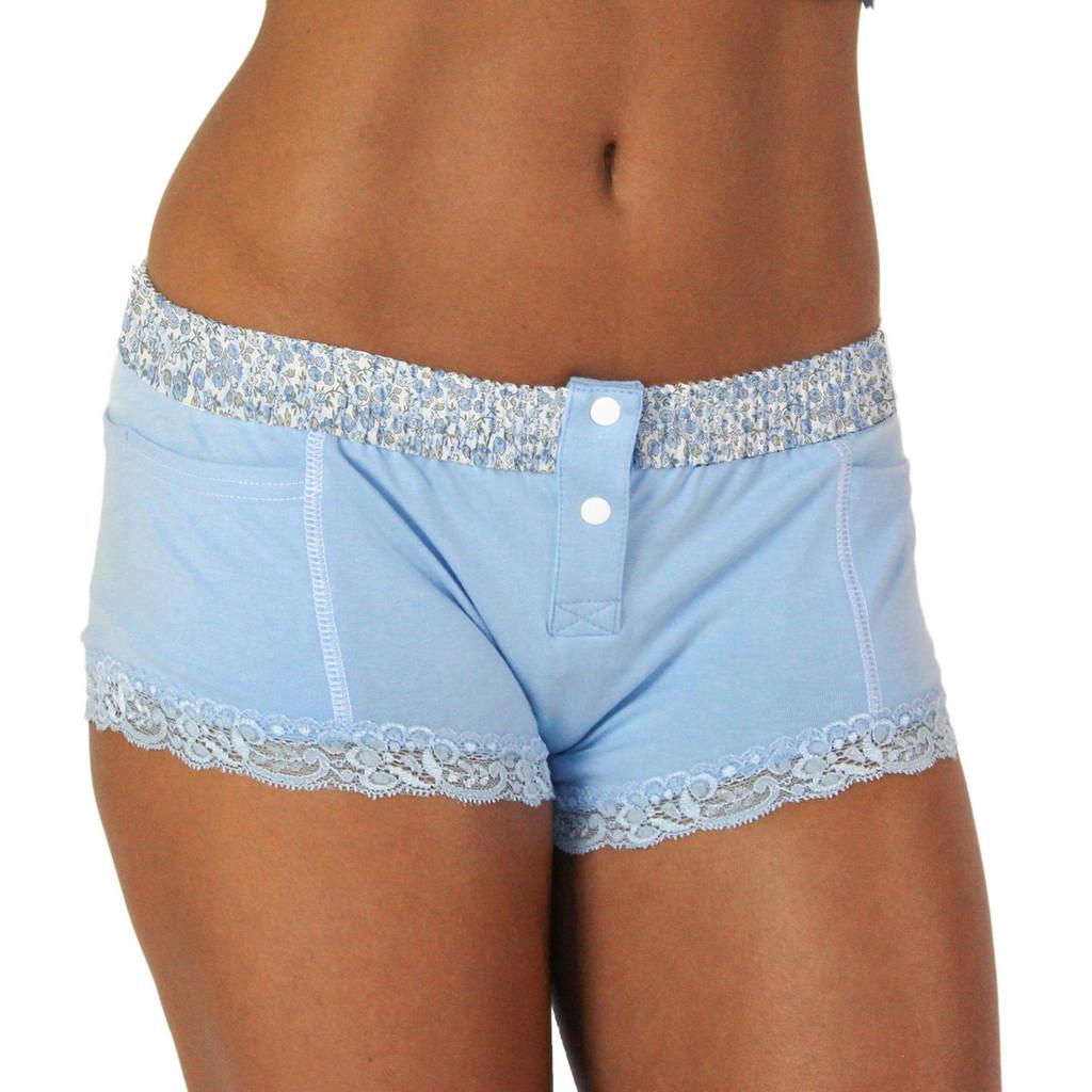 FOXERS Light Blue Boxer Briefs for women