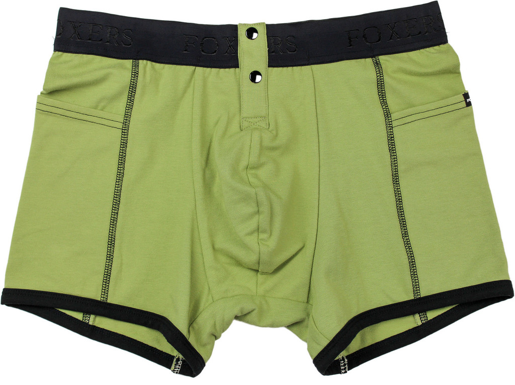 Men's Sage Green Boxer Briefs by FOXERS