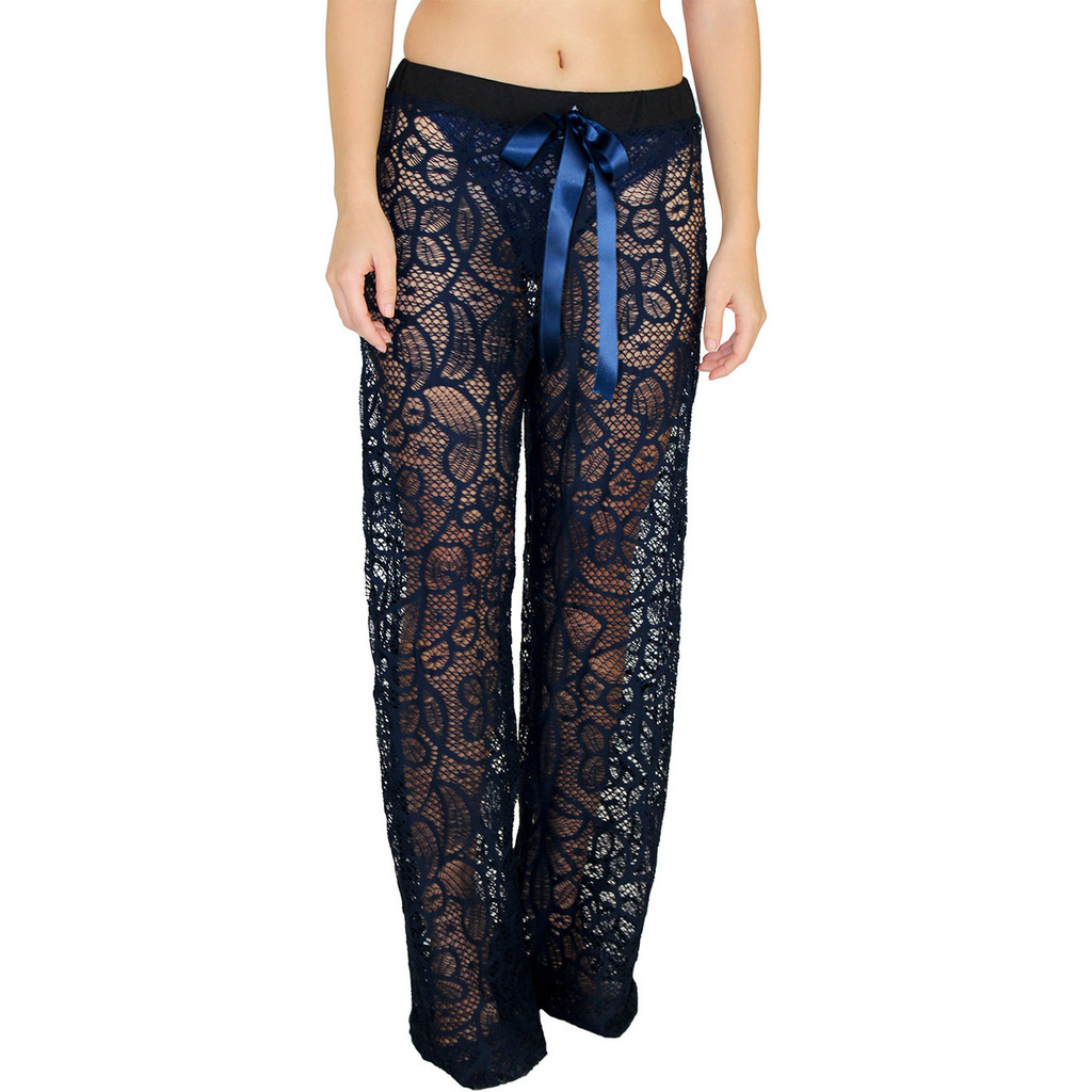 Sexy Lace Lounge pants in Navy Blue
