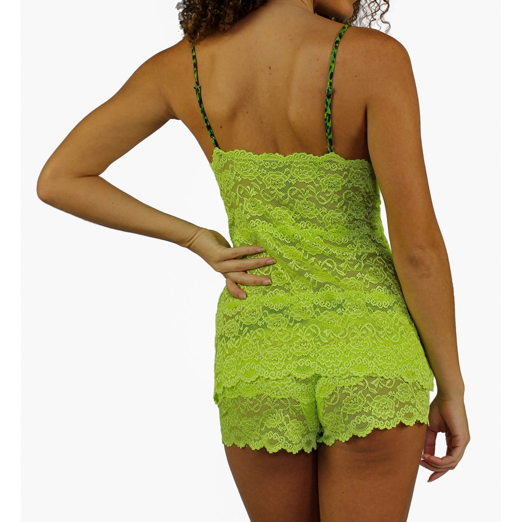 Lime Green  Hip Length Lace Camisole Nightie/Negligee