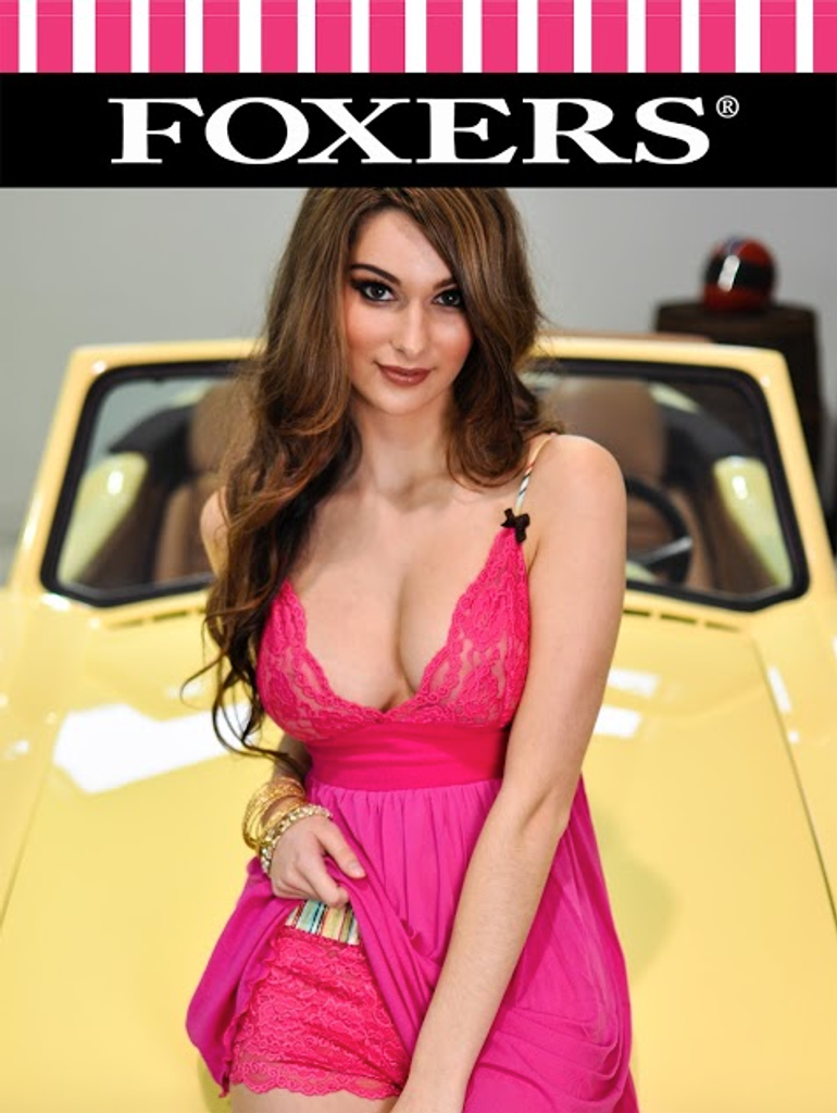 Classic Beauty Stephanie Rodriguez FOXERS Fuchsia Lace 11X17 glossy poster
