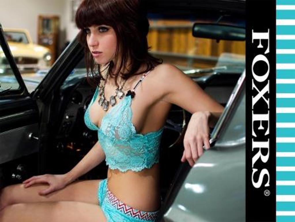 Classic Beauty Sarah Quackenbush FOXERS Aqua  Lace 11X17 glossy poster