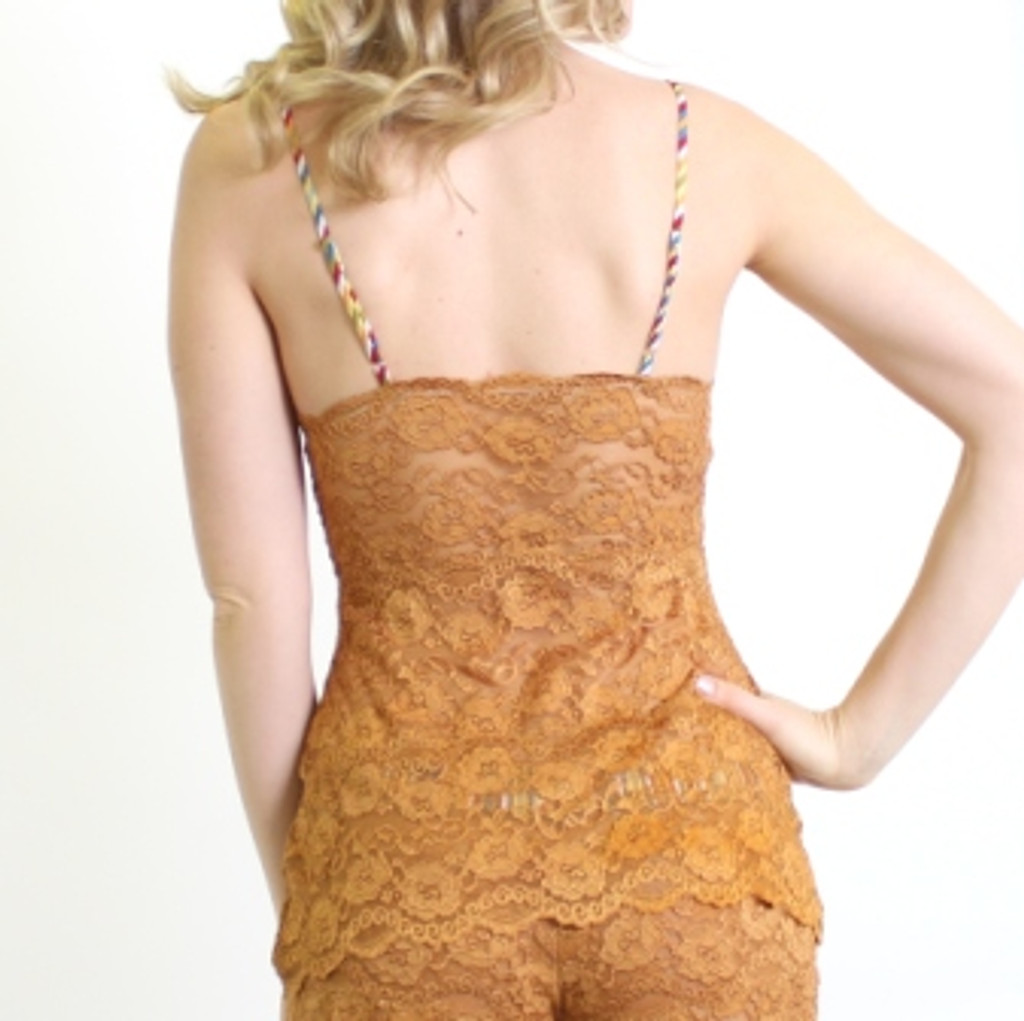 Hip Length Negligee | Gold