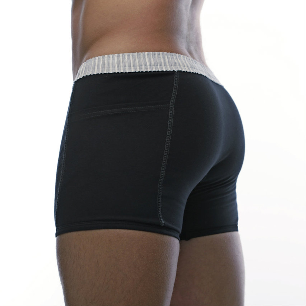Black Boxers with Pockets