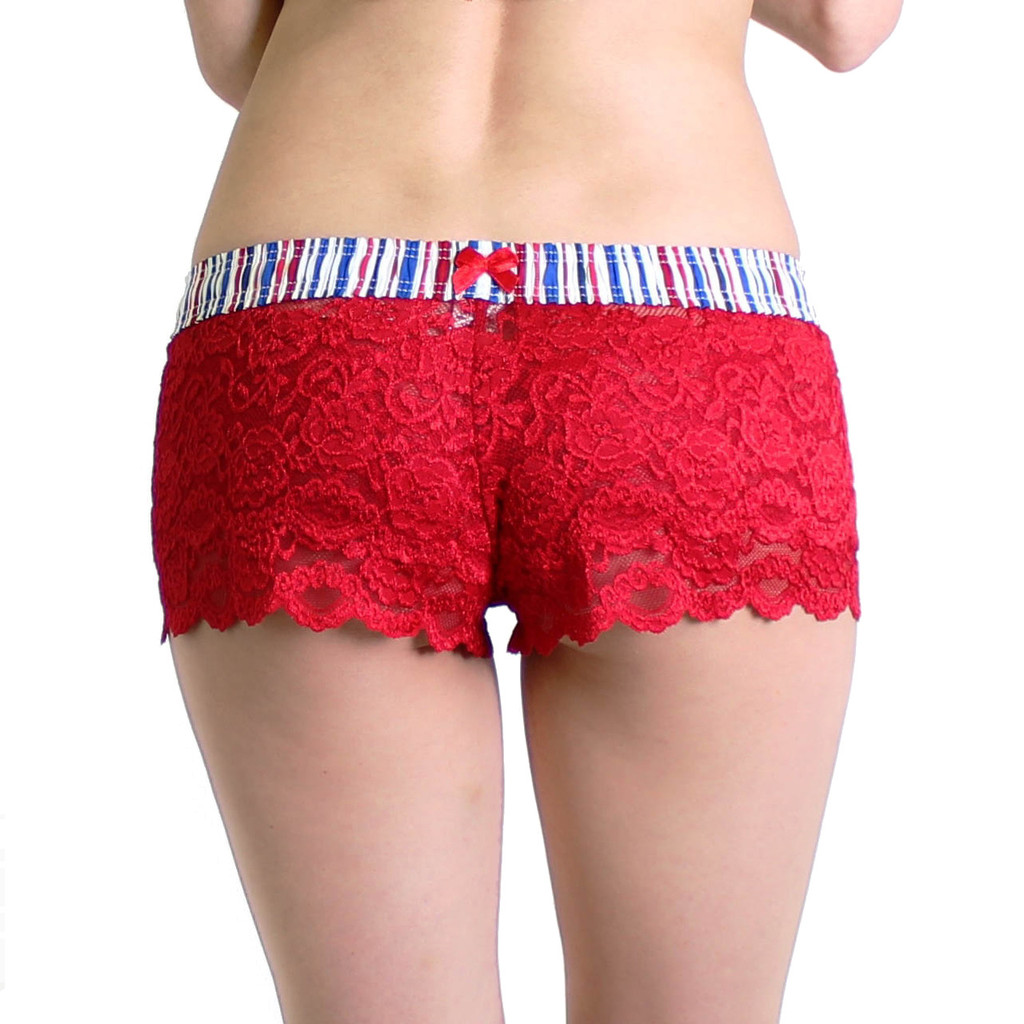 Red White and Blue / Red Lace Boxers