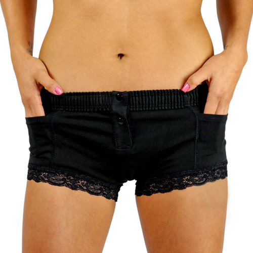 Black Boxer Brief (Black Accents)
