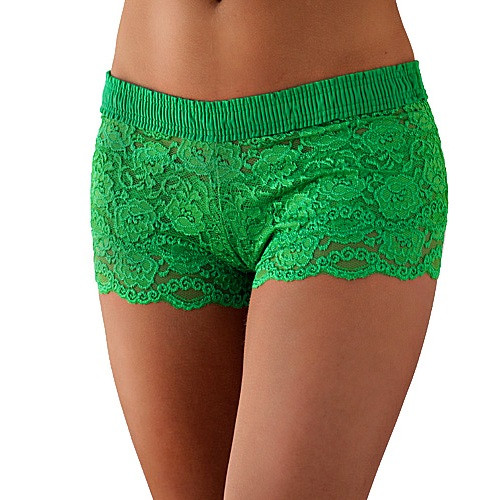 Kelly Green Lace Boxer