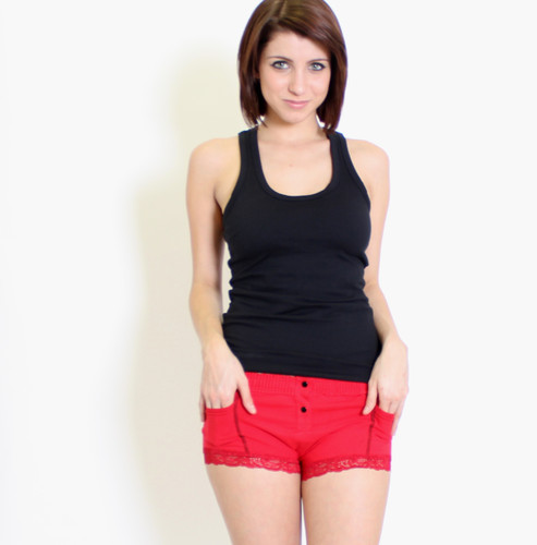 Black Tank top and red Women's Boxer Briefs