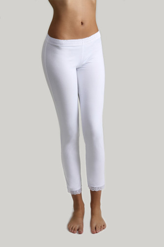 Leggings - White over White